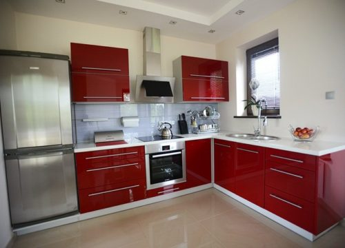 Kuchnia Lea I Czerwony Połysk