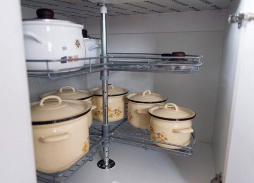 Kuchnia Neprin II Biały Połysk Ciemny Blat